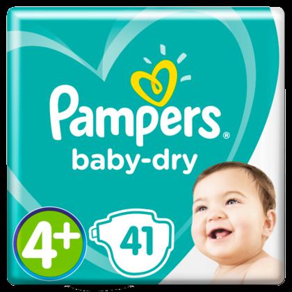 Pampers Luiers GVP Baby Dry maat 4+
