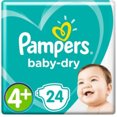 Pampers Baby dry maat 4+