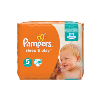 Pampers Sleep & Play Maat 5, 38 Luiers, Pampers Droogheid