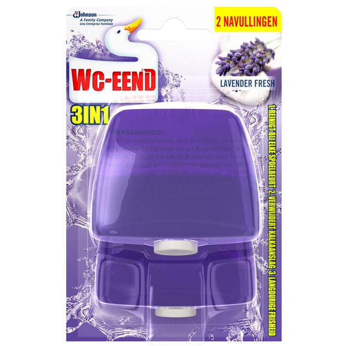 WC Eend Lavender fresh 3-in-1 navulling