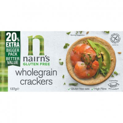 Nairn's Wholegrain crackers glutenvrij