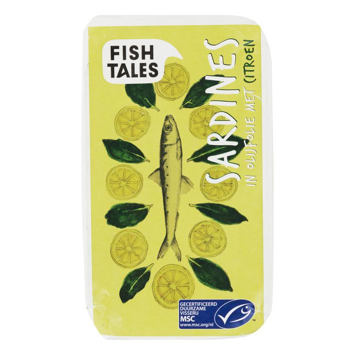 Fish Tales Sardines in olijfolie met cit msc