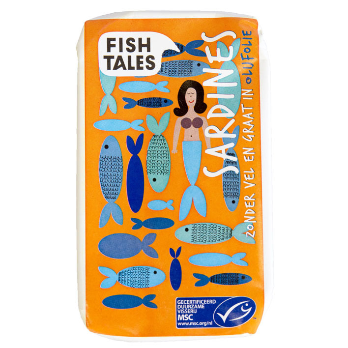 Fish Tales Sardines zonder vel-graat olijfolie msc