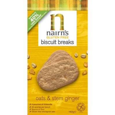 Nairn's Biscuit breaks oats ginger glutenvrij