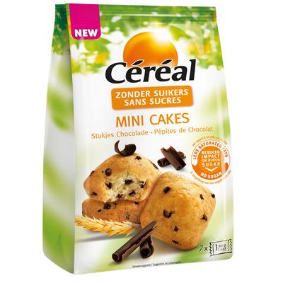 Cereal Mini cake met stukjes choc suikerbewust