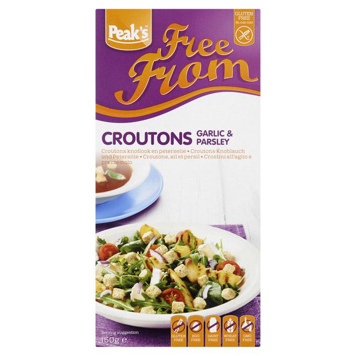 Peak's Croutons knoflook en kruiden glutenvrij