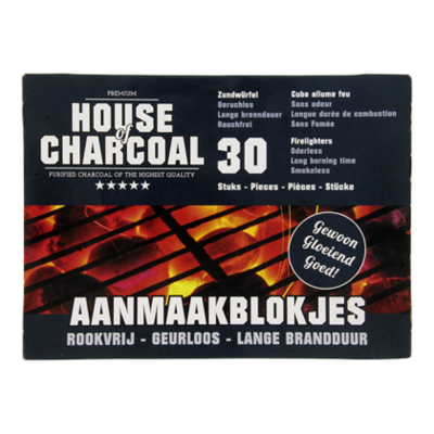 House of Charcoal Aanmaakblokjes wit
