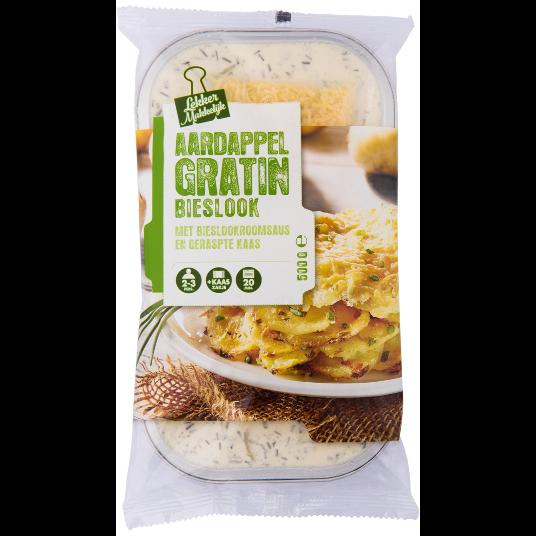 Lekker makkelijk Aardappelgratin met bieslook en kaas