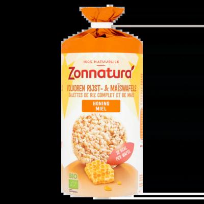Zonnatura Volkoren Rijst- & Maïswafels Honing