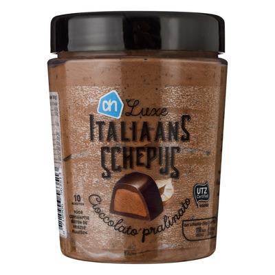 Huismerk Italiaans schepijs cioccolato pralinato