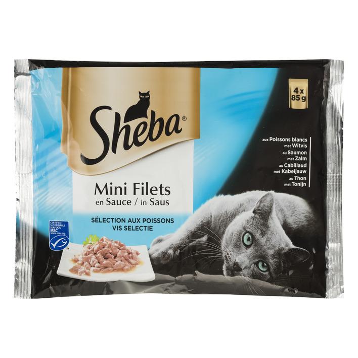 Sheba Kattenvoer nat filets in vissaus