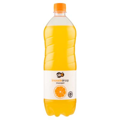 Budget Huismerk Limonadesiroop Sinaasappel 1 L