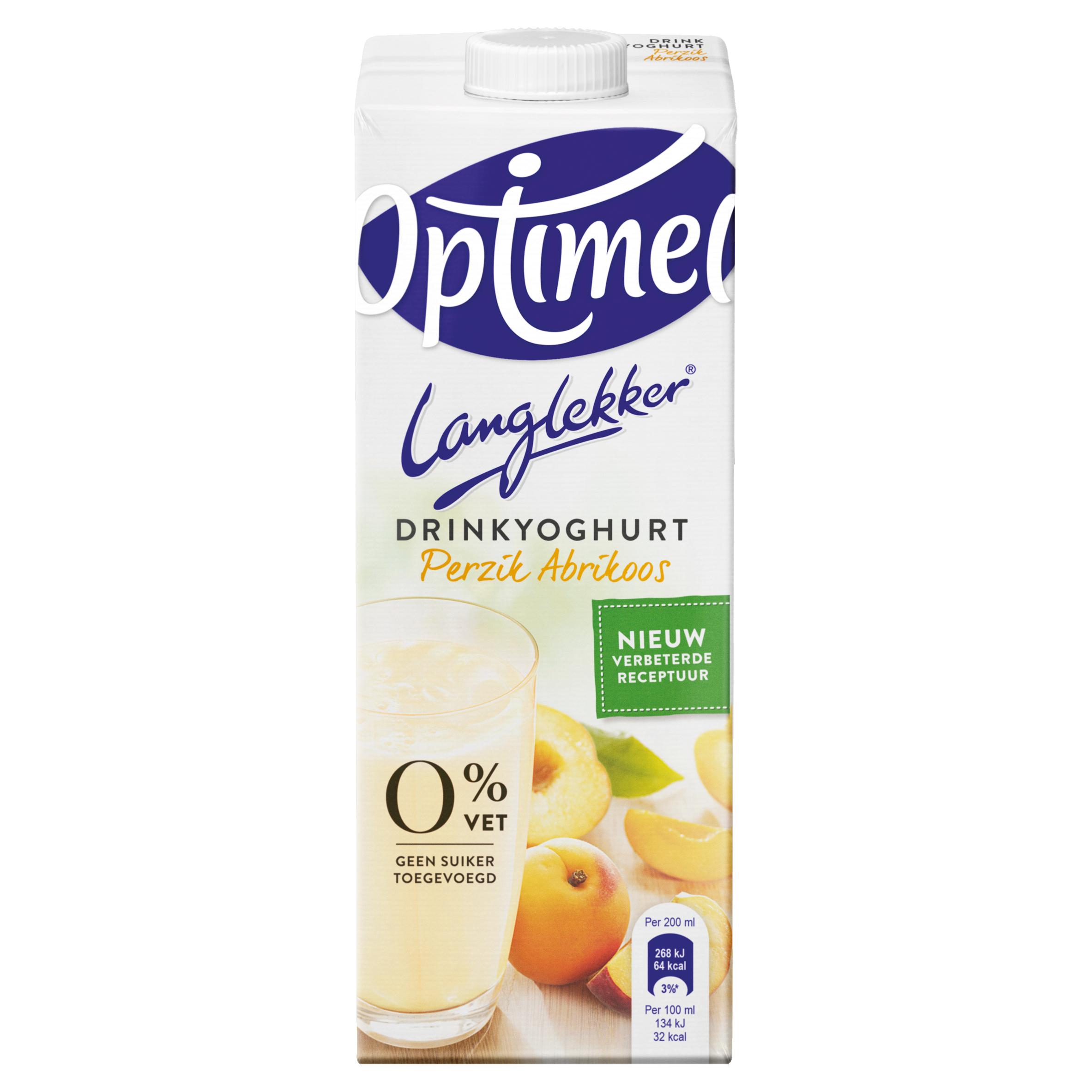 Optimel Langlekker Drinkyoghurt Perzik Abrikoos 1 L