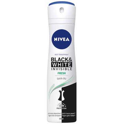 Nivea Invisible black white fresh 48h spray