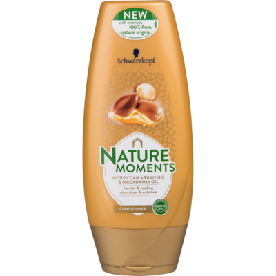 Schwarzkopf Cremespoeling natural moments Moroccan argan oil & macadamia oil