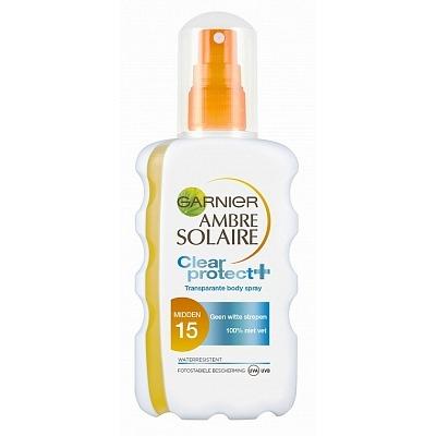 Garnier Ambre Solaire Clear Protect+ Transparante Body Spray Midden SPF 20 200 ml