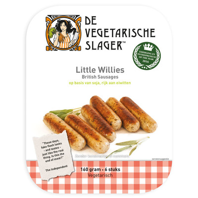 Vegetarische Slager Little willies worstjes