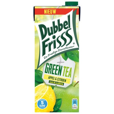 DubbelFrisss Green ice tea appel-citroen