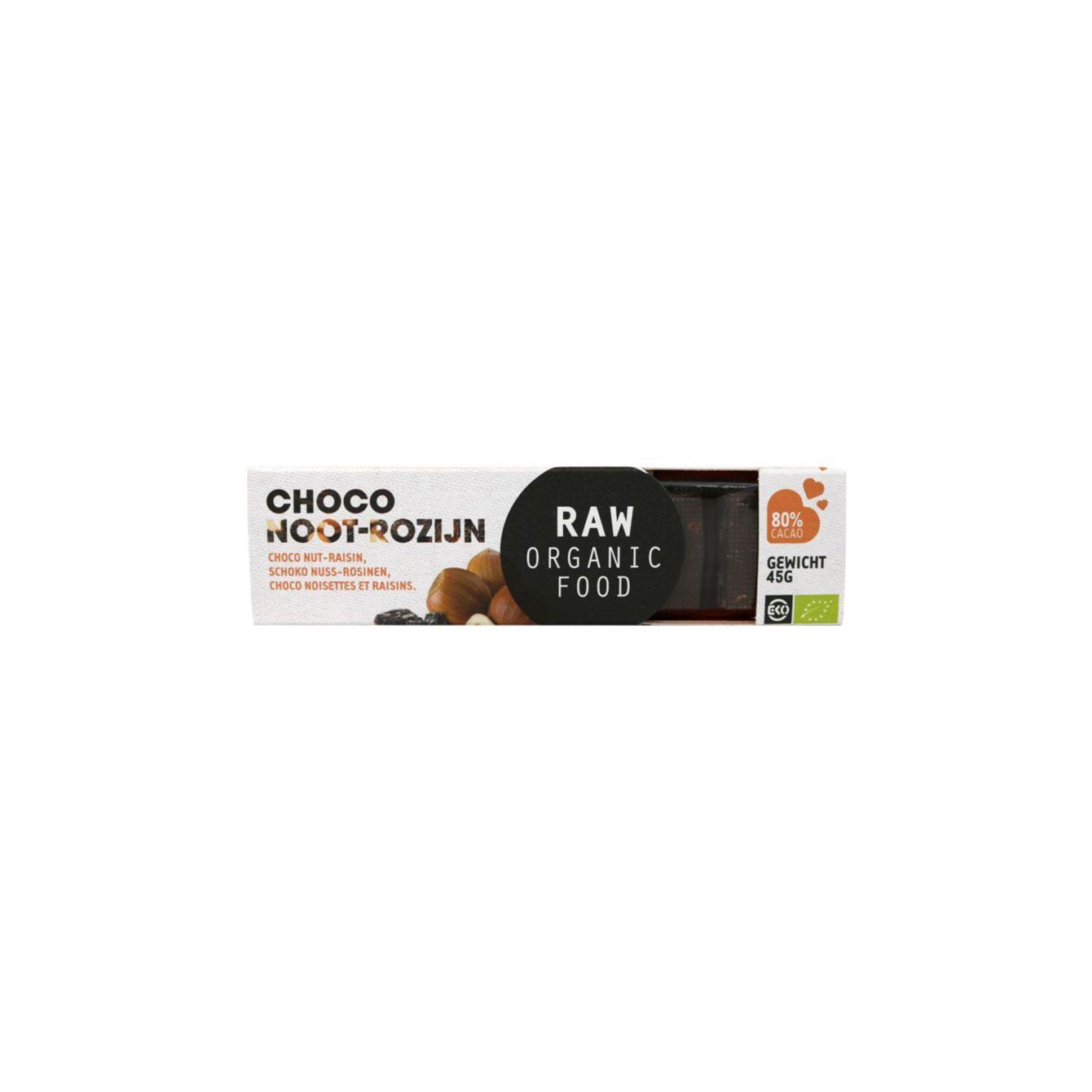 Raw Organic Food Chocoladereep Noot & Rozijn