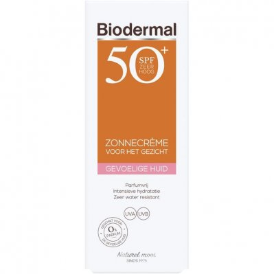Biodermal Zonnecreme gevoelige huid spf 50+