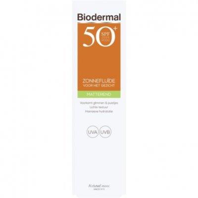 Biodermal Matterende zonnefluïde SPF 50+