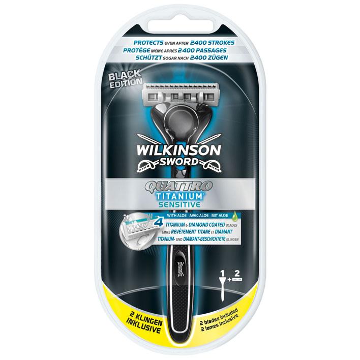Wilkinson Sword quattro titanium razor black