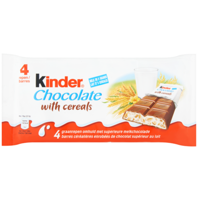 Kinder Chocolate with cereals 4 stuks