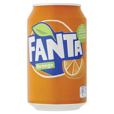Fanta Frisdrank Orange Blik 33cl