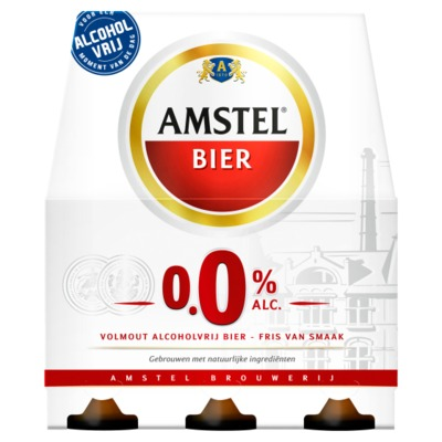 Amstel 0,0% 6-pack incl. €0,60 statiegeld