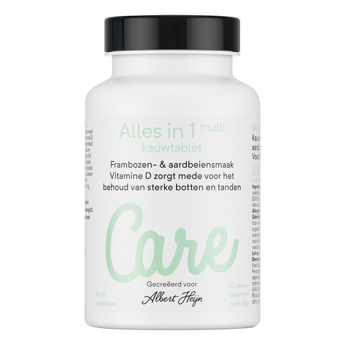 Care Multi alles-in-1 kauwtabletten framboos