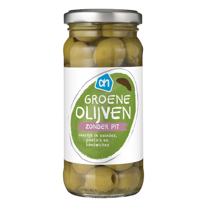 Huismerk Groene olijven zonder pit
