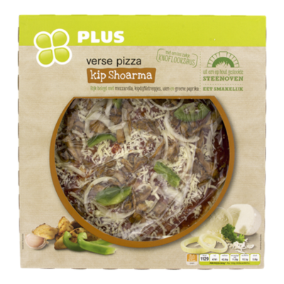 Huismerk Pizza kipshoarma