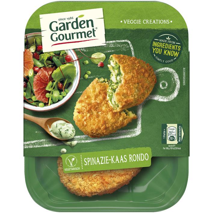 Garden Gourmet Vegetarische spinazie-kaas rondo