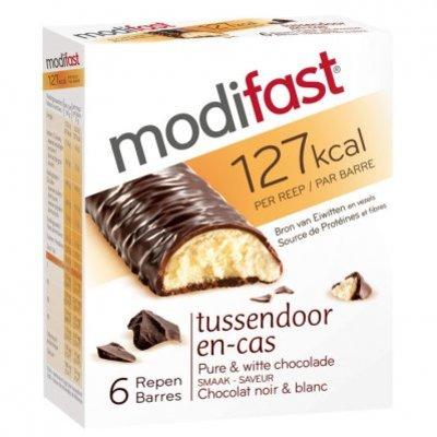 Modifast Snackrepen pure en witte chocolade