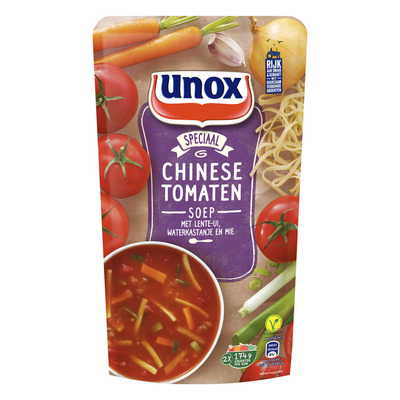 Unox Soep in zak chinese tomatensoep