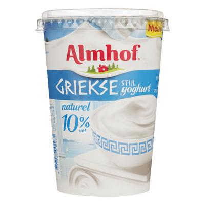 Almhof Griekse stijl yoghurt naturel 10% vet