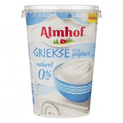 Almhof Griekse stijl yoghurt 0% vet naturel