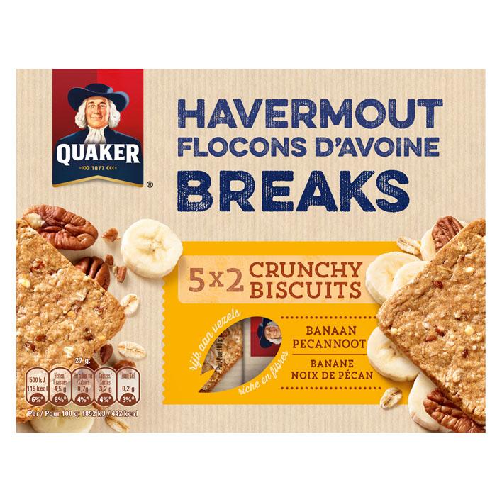 Quaker Havermout biscuit banaan & pecan