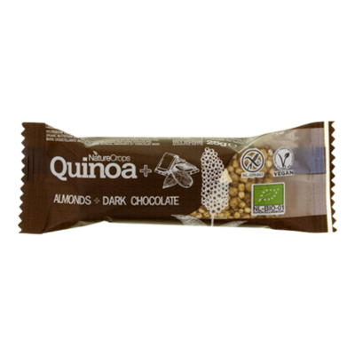 NatureCrops Quinoa bar dark chocolate & almonds