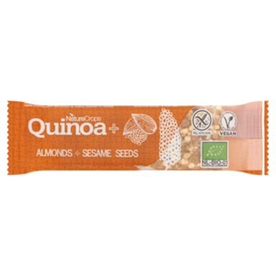 NatureCrops Quinoa bar almonds & sesame seeds
