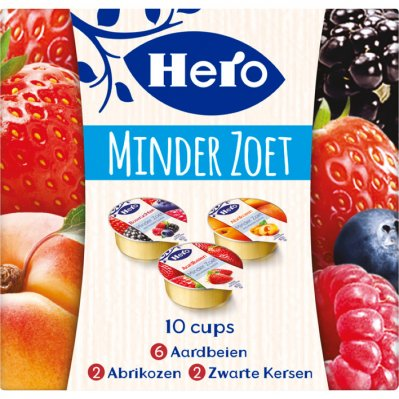 Hero Minder zoet vruchtenjam cups