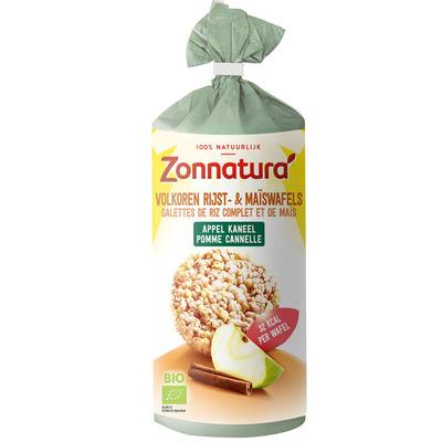 Zonnatura Rijst- & maiswafels appel & kaneel
