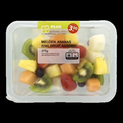 Huismerk Vers fruit meloen-ananas-kiwi-druif