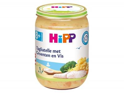 Hipp 8m Bio taglliatelle groente vis