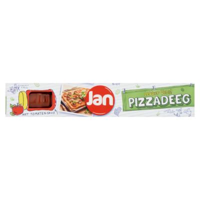 Jan Pizzadeeg met Tomatensaus