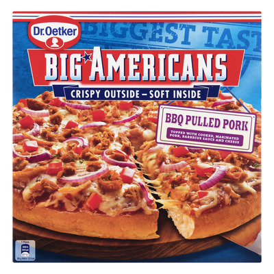 Dr. Oetker Big Americans pizza BBQ pulled pork