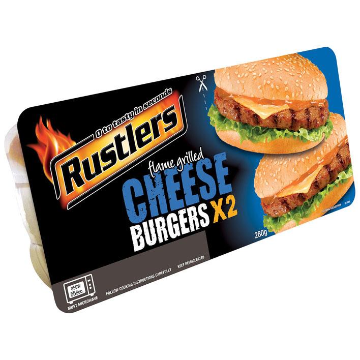 Rustlers Twin pack cheeseburger