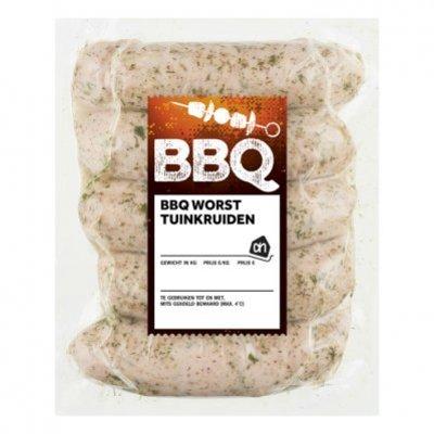 Huismerk BBQ worst met tuinkruiden