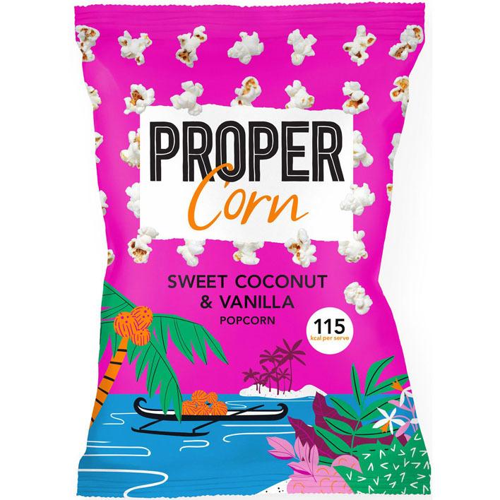 Propercorn Sweet coconut en vanilla