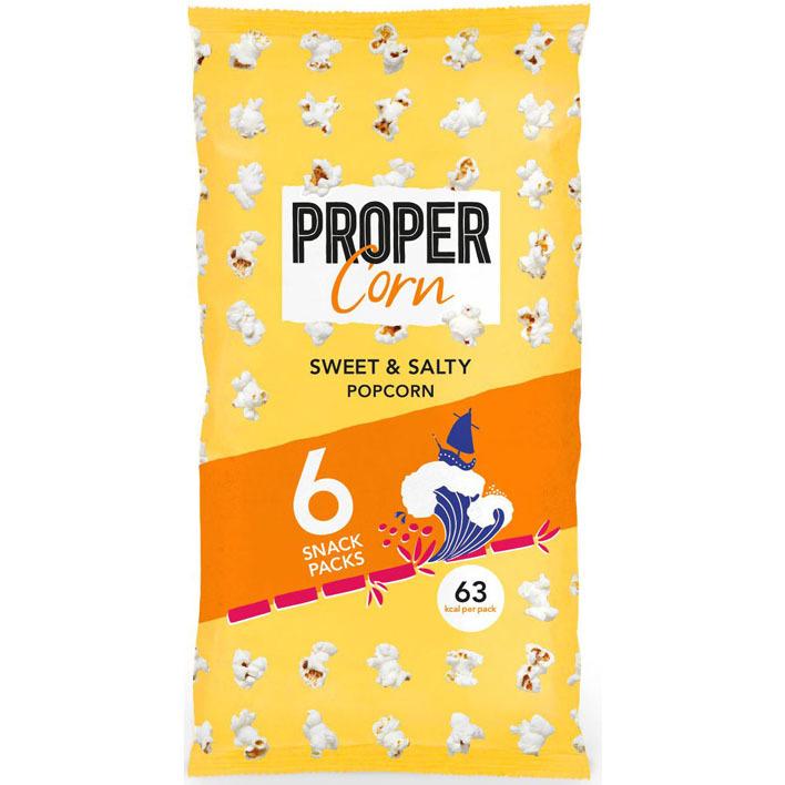 Propercorn Sweet & salty 6-packs